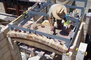 Starting the brick vault