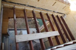 Bare joists viewed from above