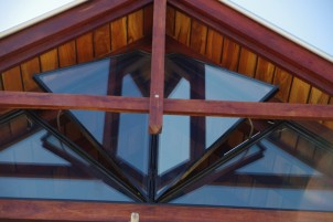 Look, outward opening triangular windows